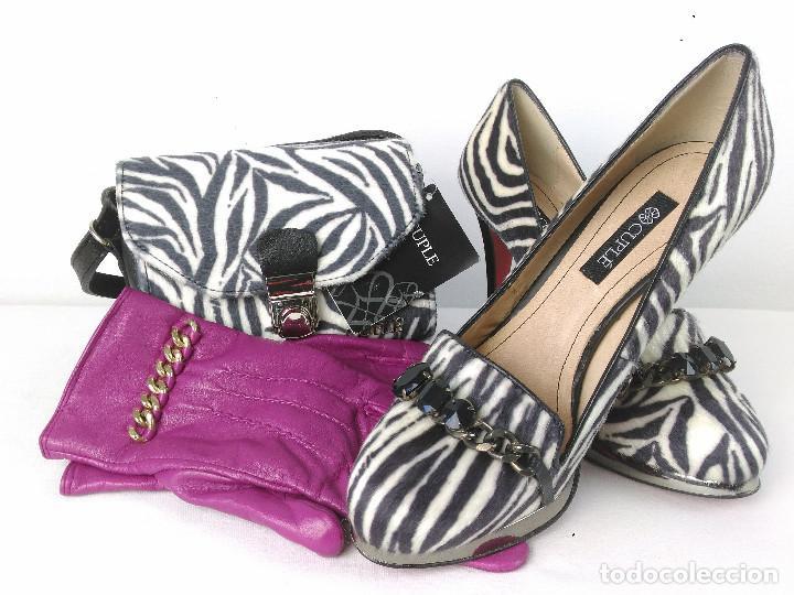 829c9228 conjunto zapatos y bolso de piel animal print m - Buy Second Hand ...