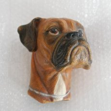 D'Occasion: CABEZA PERRO BOXER YESO COLGAR MADE IN ENGLAND 1969. Lote 112469019