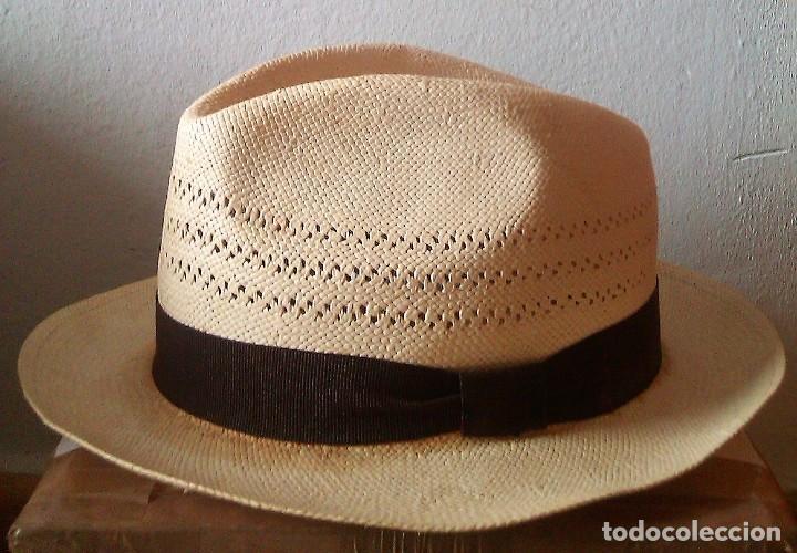 85f4c6efed49b Segunda Mano  Sombrero - gorro Panama. Hombre talla 55. 100% fibra -
