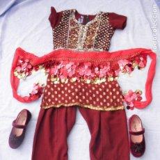 Segunda Mano: CONJUNTO DE ROPA INFANTIL ÁRABE COLOR GRANATE COMO NUEVO. Lote 112937135