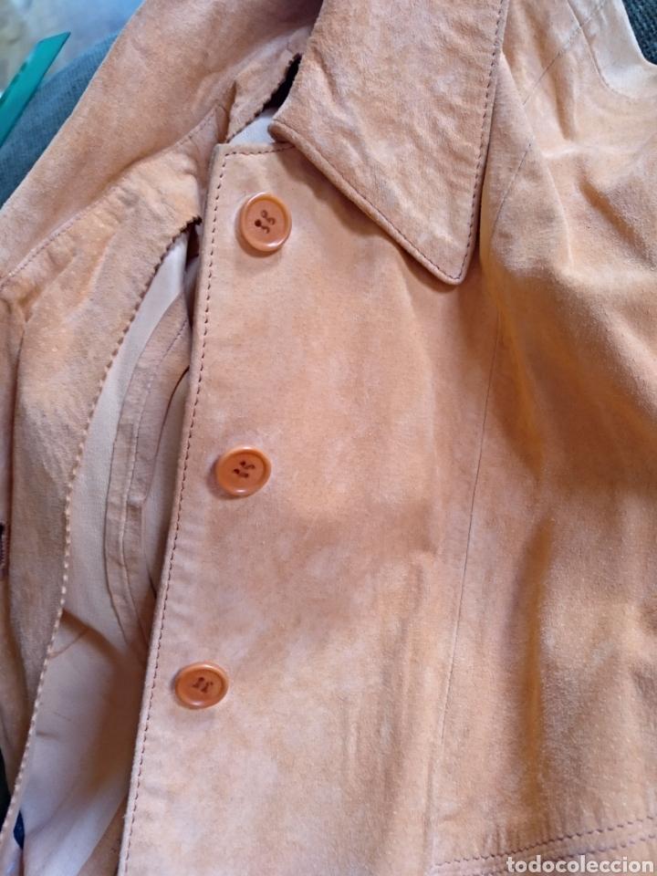 Segunda Mano: Chaqueta/sobrecamisa piel ante color naranja talla M. Mujer - Foto 8 - 114609075