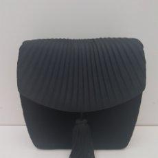 Zweite Hand - Bolso negro de seda y terciopelo de fiesta - 116657370