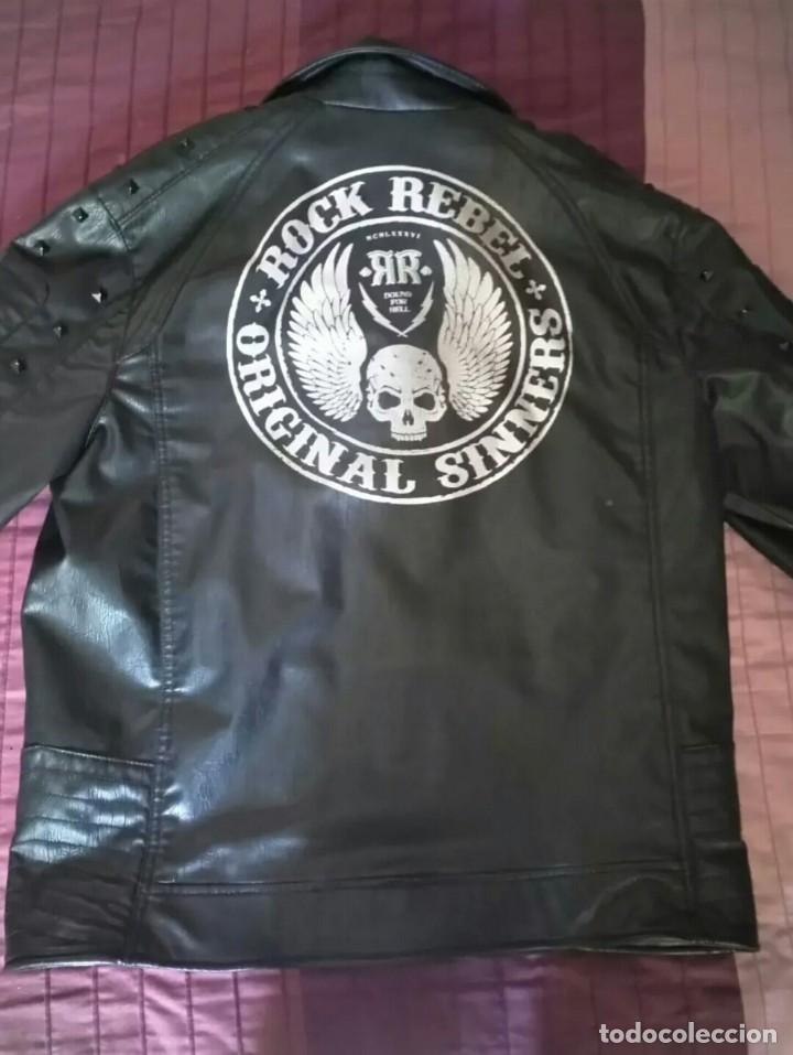 Segunda Mano: Cazadora imitación cuero.rock rebel - Foto 2 - 126871355