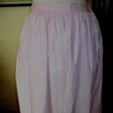 Zweite Hand - Falda estilo ibicenco algodón bordados en los bajos color rosa claro. dos bolsillos interiores. - 127217731