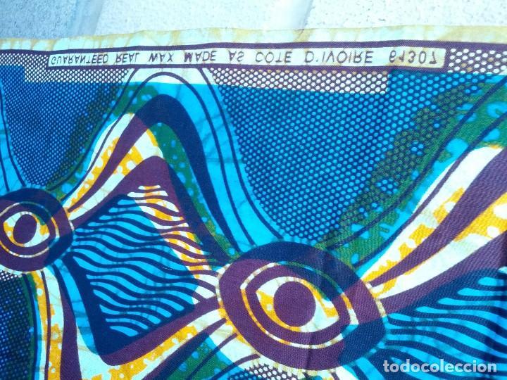Segunda Mano: Pieza de tela en algodon, de Africa. - Foto 3 - 129655503