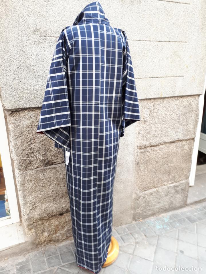 Segunda Mano: KIMONO JAPONES DE CUADROS FORRADO - Foto 3 - 130275194