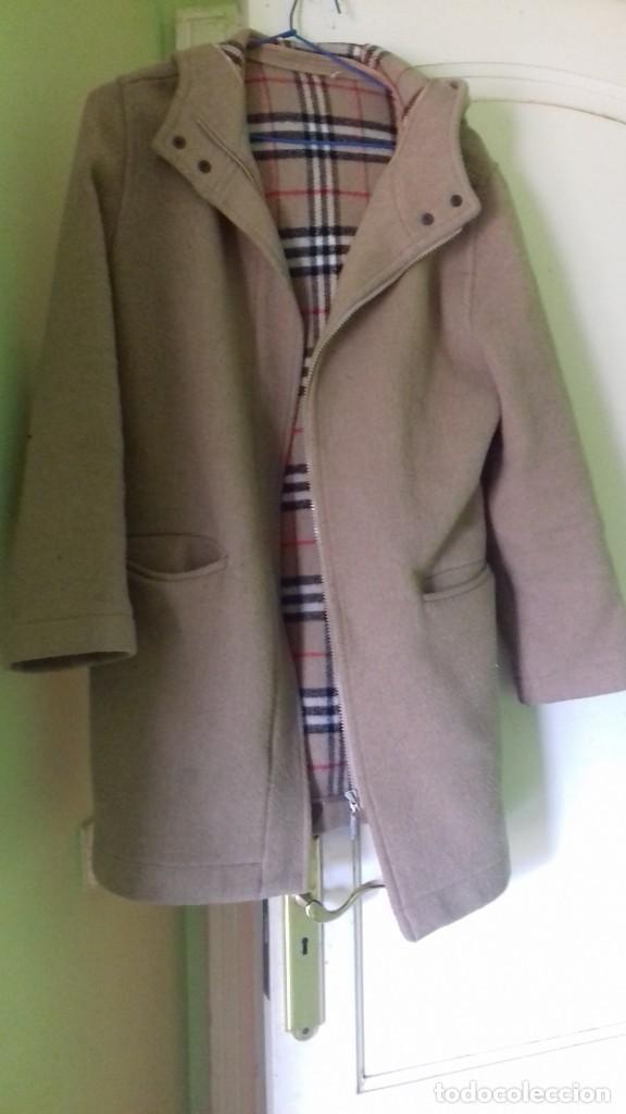 abrigo beige con capucha talla 38 segunda mano