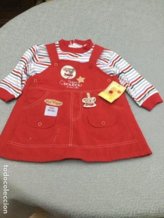 Segunda Mano: Vestido pichi y jersey de rayas a juego para niña de 12 meses - Foto 2 - 130870680