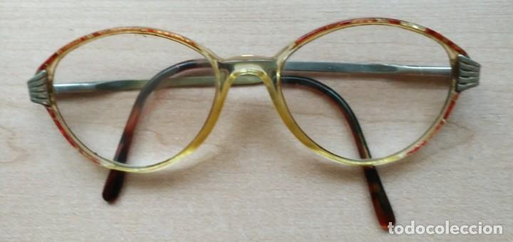 U17 Montura gafas pasta colores y varillas metal y pasta segunda mano