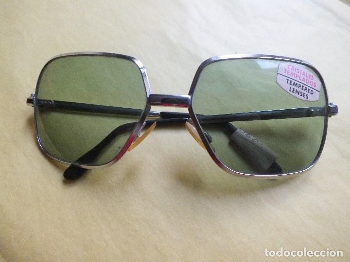 Antiguas gafas de sol para hombre Vintage Retro Originales Montura metálica cristles templados segunda mano