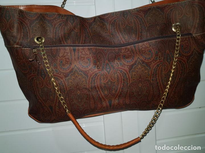 Segunda Mano: Bolso antiguo de mujer de Piel, bolso retro de muy buena calidad. - Foto 5 - 139737302