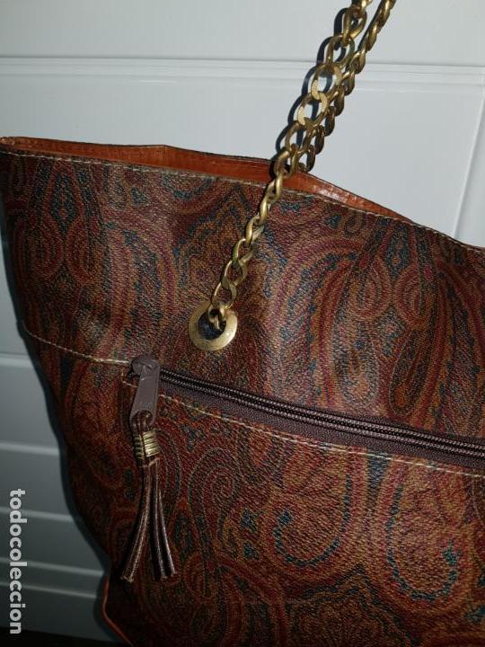 Segunda Mano: Bolso antiguo de mujer de Piel, bolso retro de muy buena calidad. - Foto 7 - 139737302