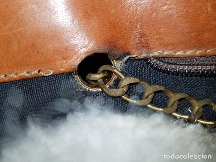 Segunda Mano: Bolso antiguo de mujer de Piel, bolso retro de muy buena calidad. - Foto 13 - 139737302