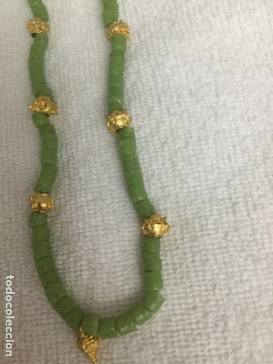 Segunda Mano: Collar piedras verdes y doradas - Foto 5 - 140570406