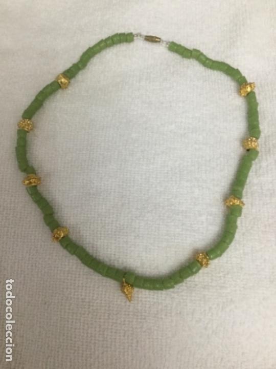 Segunda Mano: Collar piedras verdes y doradas - Foto 6 - 140570406