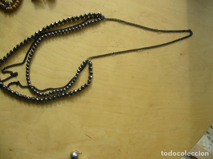 Segunda Mano: Lote 10 articulos de bisuteria; 2 collares, 2 pares de pendientes, 6 sortijas - Foto 9 - 147018250