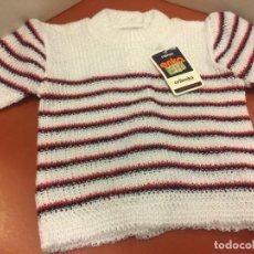 Segunda Mano: JERSEY INFANTIL VINTAGE, TALLA PEQUEÑA,COLOR AMARILLO. SIN USO. IDEAL PARA BEBE O ROPA DE MUÑECAS. Lote 148524670