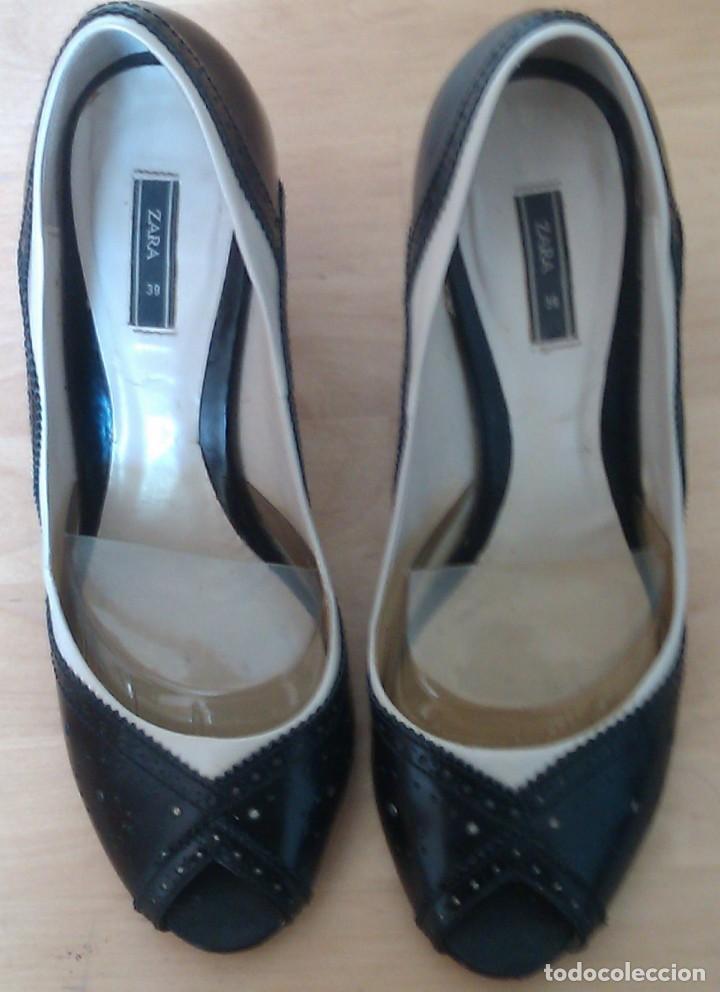 Ropa Zapatos N Brogues Zara Mujer Comprar Negro Tacon Blaco Y pyfqrpxA8w