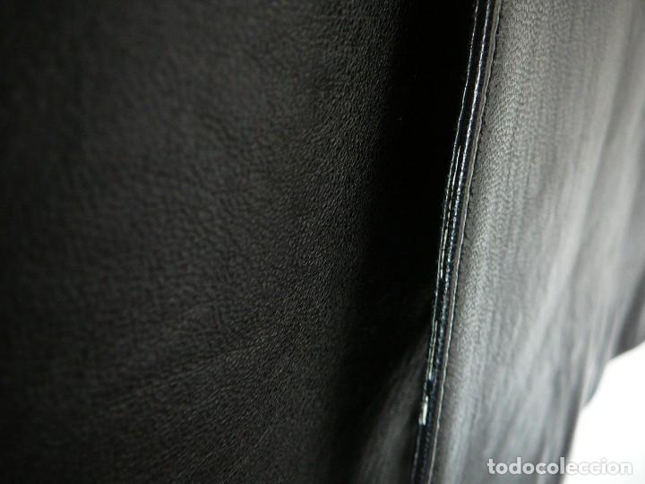 Segunda Mano: Cazadora de cuero negro Abrigo tres cuartos Cortefiel. 48 Talla M. Piel Ovino - Foto 10 - 156745030