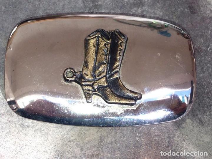 Segunda Mano: clasico cinturon vaquero vintage acero botas con espuelas made in USA calidad - Foto 3 - 158932538