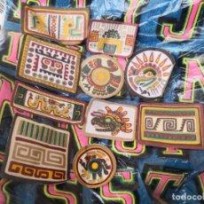 Segunda Mano: COLECCION DE 10 PARCHES AÑOS 70/80 DE TELA MOTIVOS AZTECAS. Lote 162561430