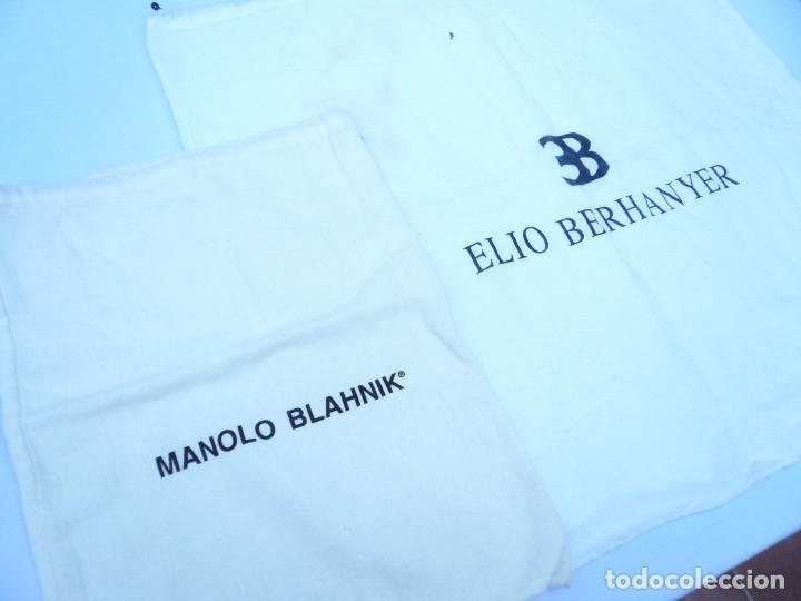 BOLSA DE CALZADO. LOTE DE 2: MANOLO BLAHNIK Y ELIO BERHANYER (Segunda Mano - Ropa y Complementos)