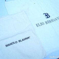 Segunda Mano: BOLSA DE CALZADO. LOTE DE 2: MANOLO BLAHNIK Y ELIO BERHANYER. Lote 163800446