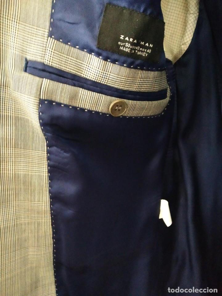 Segunda Mano: Traje chaqueta y pantalon Zara cuadros gris - Foto 4 - 173016198