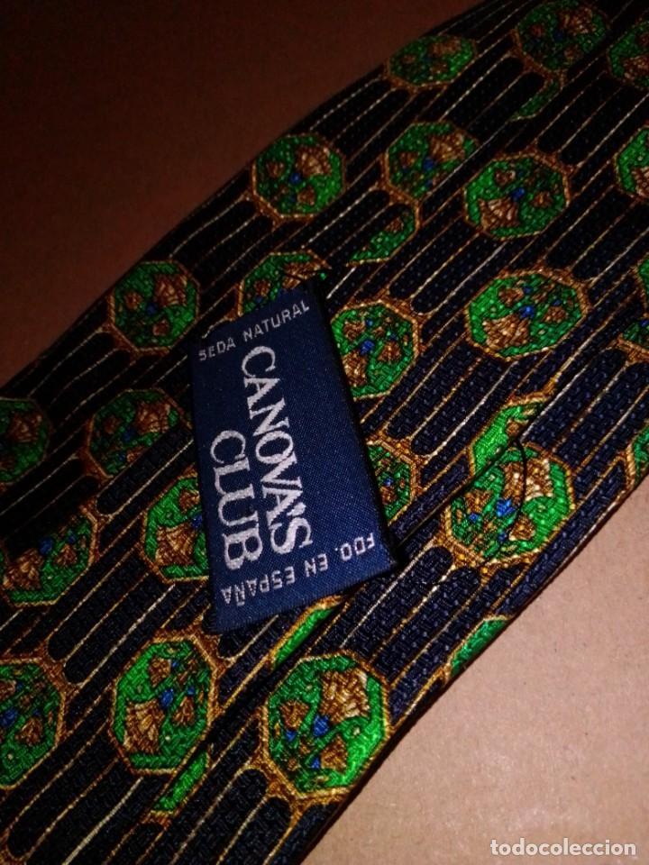 Segunda Mano: Original corbata de seda. Cánovas club. El Corte Inglés. - Foto 3 - 183781267