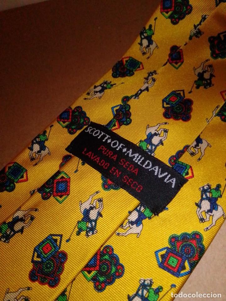 Segunda Mano: Original corbata de seda. Scott of Mildavia. El Corte Inglés. - Foto 3 - 183784070
