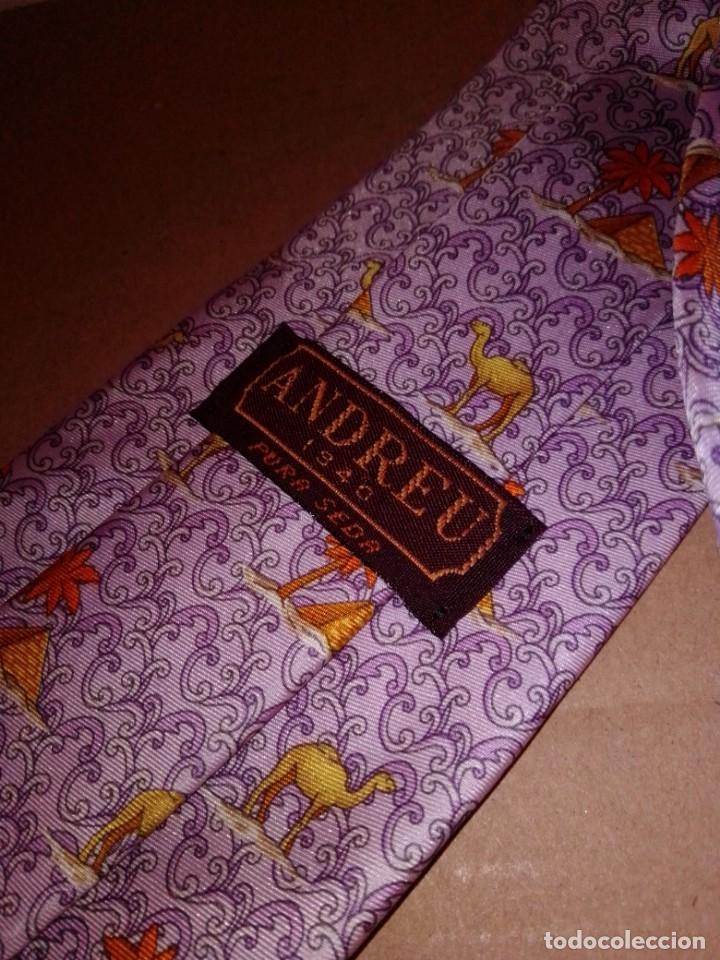 Segunda Mano: Original corbata de seda. Andreu. El Corte Inglés. - Foto 3 - 183785640