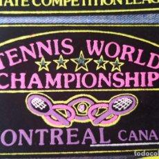 Segunda Mano: PARCHE TELA TENNIS WORLD CHAMPIONSHIP . Lote 194195401
