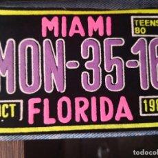 Segunda Mano: PARCHE TELA MIAMI FLORIDA . Lote 194195453
