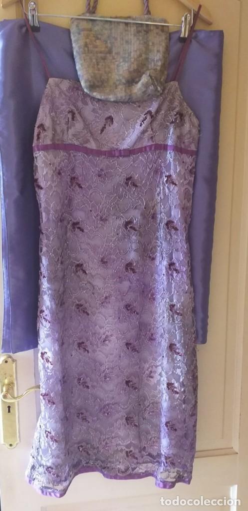 Segunda Mano: traje de lentejuela con bolso y fulard talla 44 - Foto 2 - 201281078