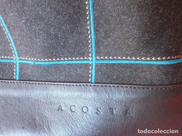 Segunda Mano: bolso piel marca ACOSTA DE PIEL Y TELA BORDADA - Foto 2 - 206262117