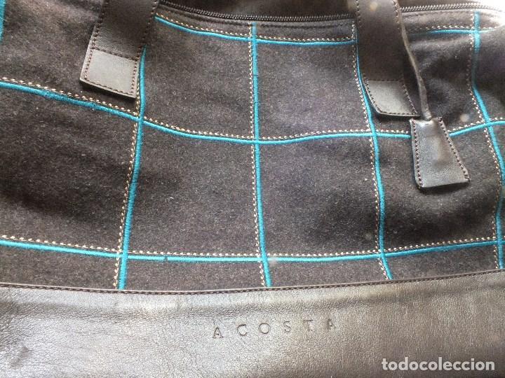 Segunda Mano: bolso piel marca ACOSTA DE PIEL Y TELA BORDADA - Foto 6 - 206262117