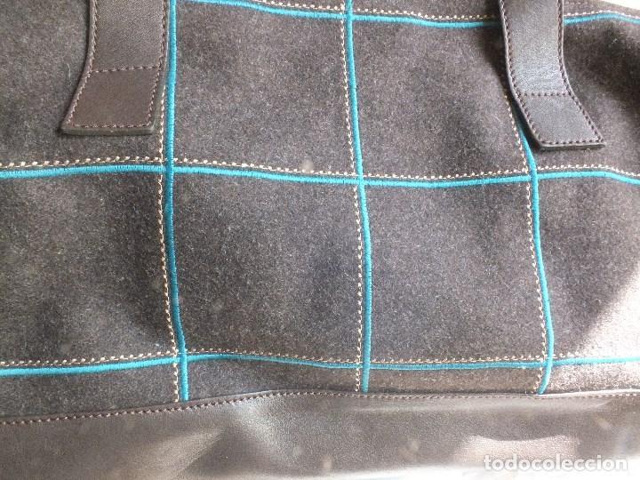 Segunda Mano: bolso piel marca ACOSTA DE PIEL Y TELA BORDADA - Foto 7 - 206262117