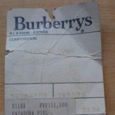 Segunda Mano: CHAQUETA BURBERRYS. Lote 207115822