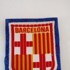 Segunda Mano: PARCHE CON ESCUDO TEXTIL DE BARCELONA.AÑOS 70.. Lote 213974943