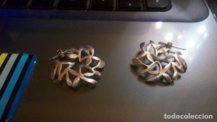 Segunda Mano: Pendientes en plata mate 925mmg pureza. Año 1994 - Foto 2 - 36183366