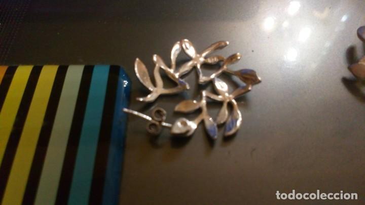 Segunda Mano: Pendientes en plata mate 925mmg pureza. Año 1994 - Foto 4 - 36183366