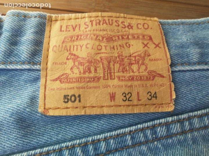 Segunda Mano: Pantalón Levis 501 W32 L34 Vaqueros Levi Strauss Desteñidos de fábrica - Foto 19 - 231555250