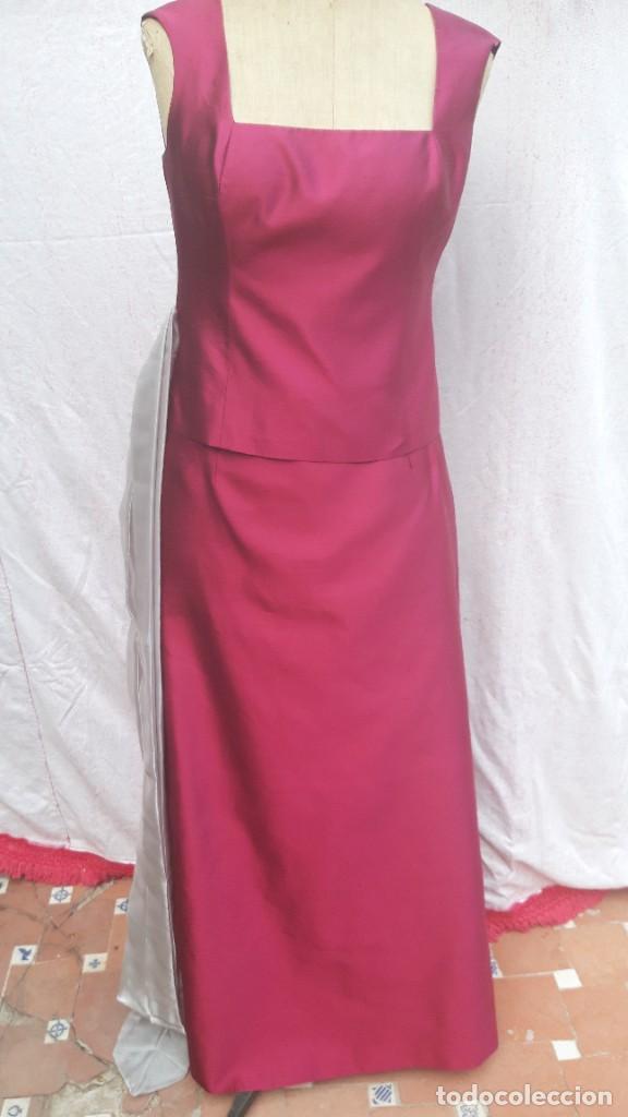 Segunda Mano: Conjunto de Jesus del Pozo, de falda y cuerpo en seda,para fiesta o ceremonia. - Foto 4 - 284176278