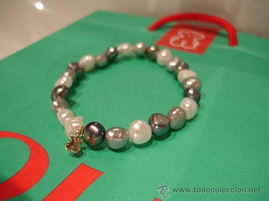 9b3a191fe288 Pulsera de perlas tous blanca, gris y rosa - el - Vendido en Venta ...