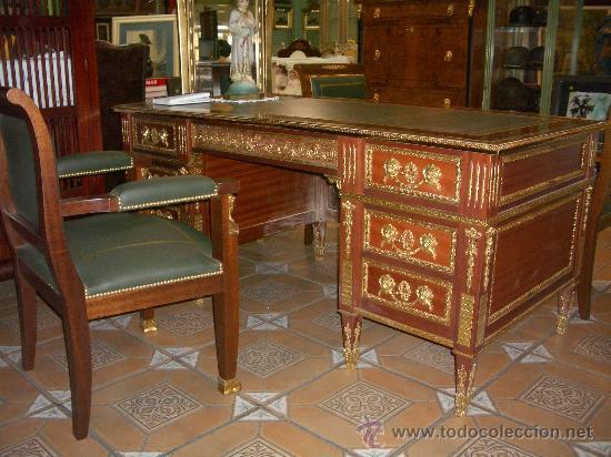 despacho completo, mesa y tres sillones, pieza - Buy Second Hand ...