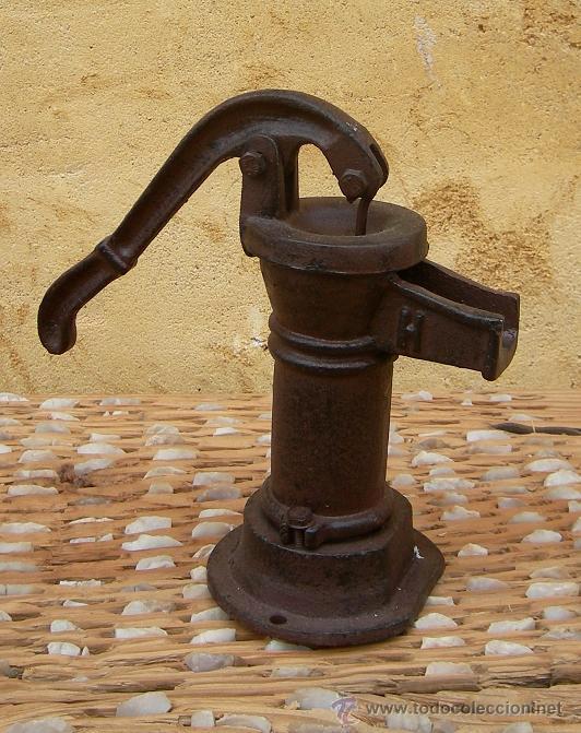Bomba hierro de agua fuente jard365 comprar en todocoleccion 50164933 - Bomba depuradora piscina segunda mano ...