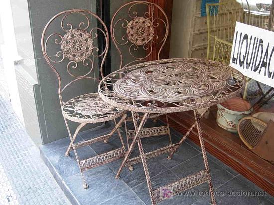juego de terraza o jardin con mesa ovalada y do comprar