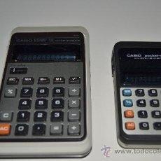 Segunda Mano: 2 CALCULADORAS CASIO POCKET-MINI Y CASIO MEMORY 10E. Lote 40054415