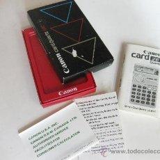 Segunda Mano: CAJA E INSTRUCCIONES DE LA CALCULADORA CANON CARD QUARTZ LC-61T. Lote 27738303