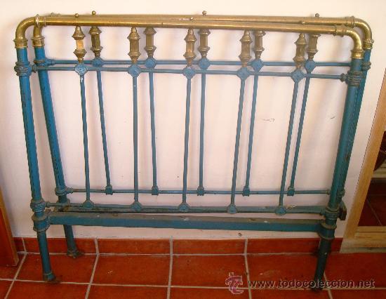 Dos cabeceros de cama de fundici n y lat n br comprar - Cabeceros de cama antiguos ...